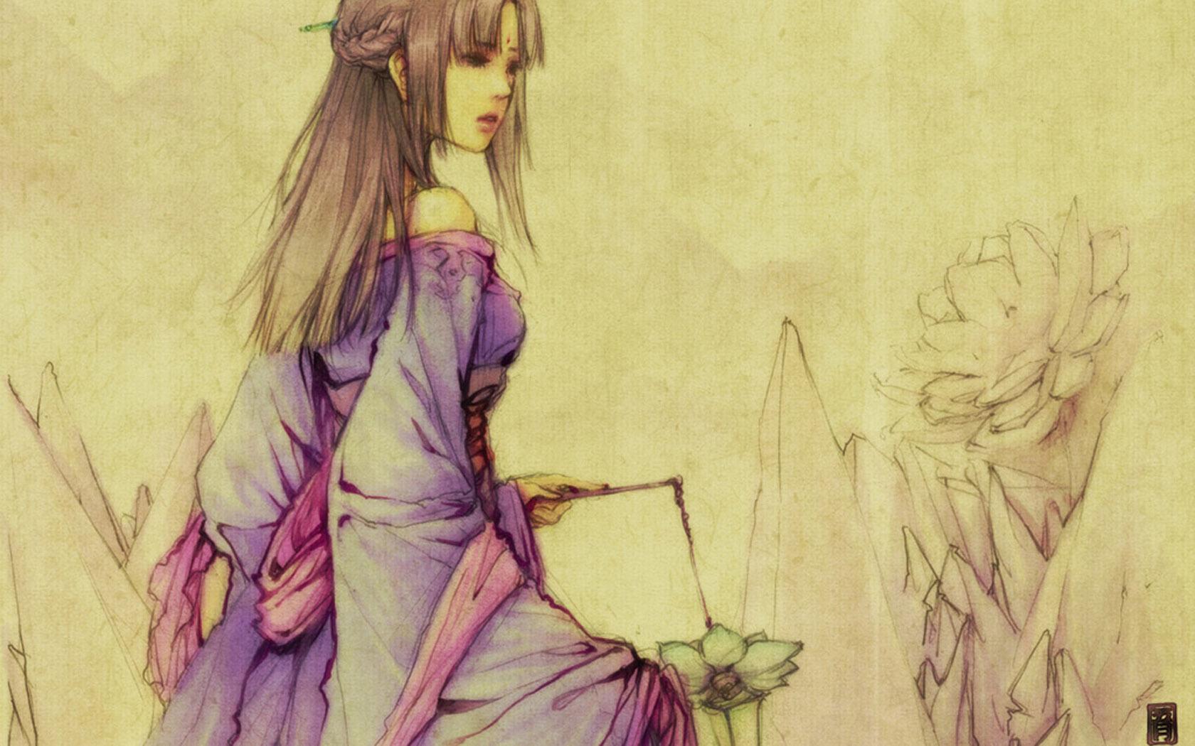 手绘柳梦璃图片