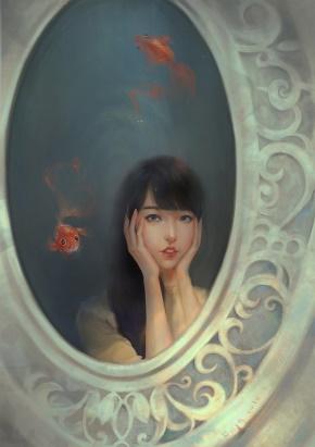 安意如(张莉)名言被五松无痕收藏到精美画作